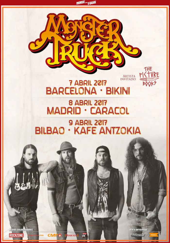 MONSTER TRUCK + THE PICTUREBOOKS EN SALA CARACOL (MADRID)