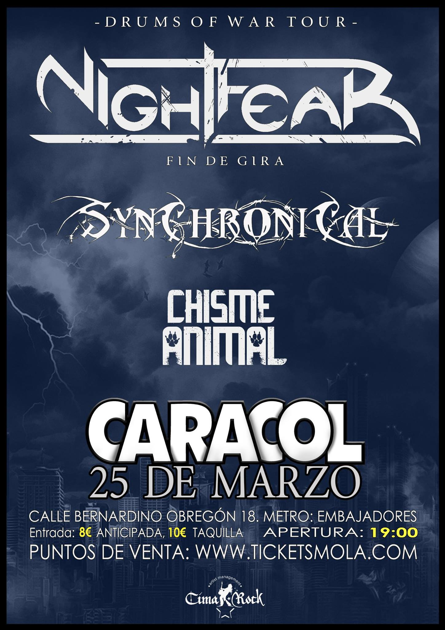 NIGHTFEAR + SYNCHRONICAL Y CHISME ANIMAL