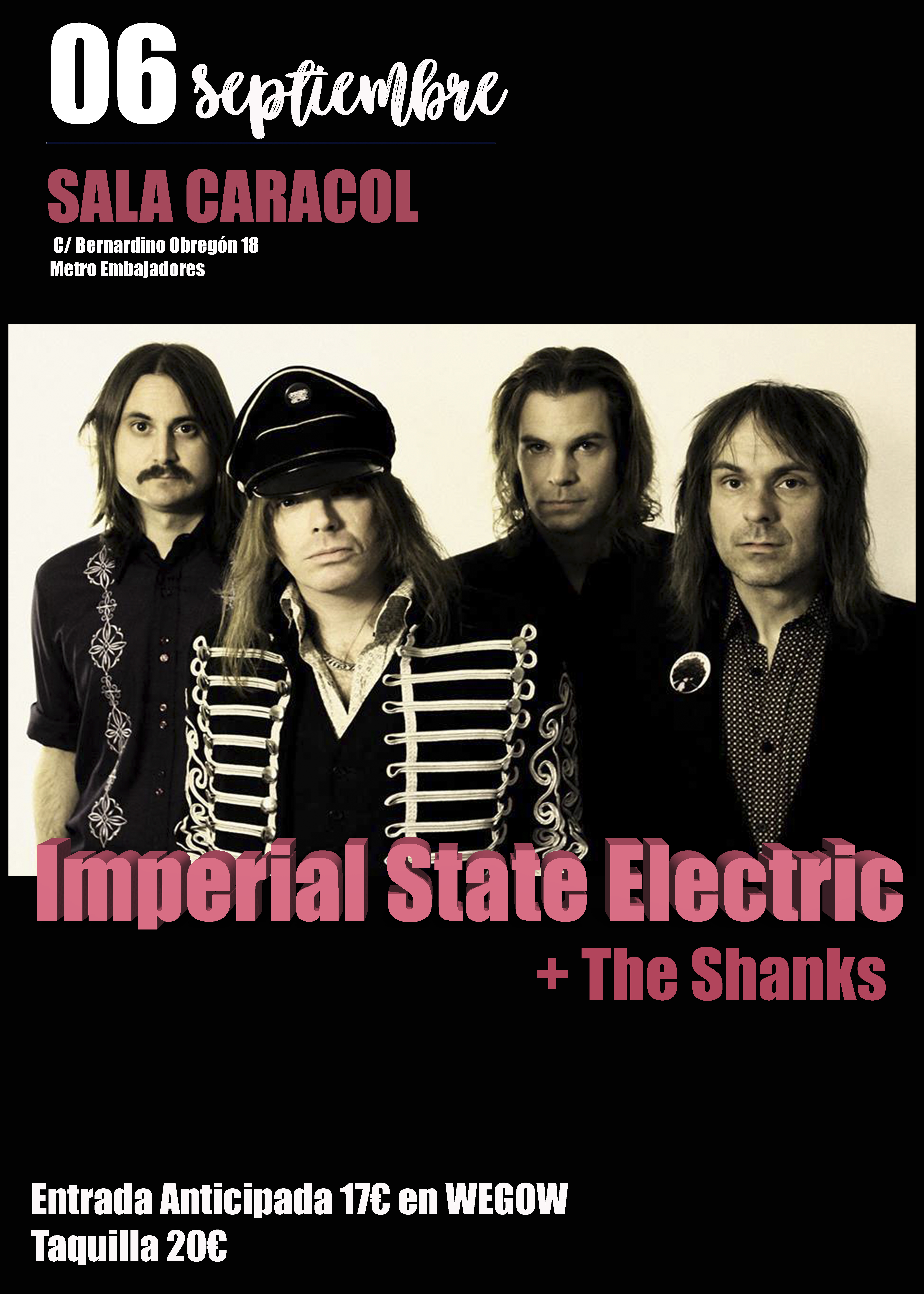 IMPERIAL STATE ELECTRIC + THE SHANKS