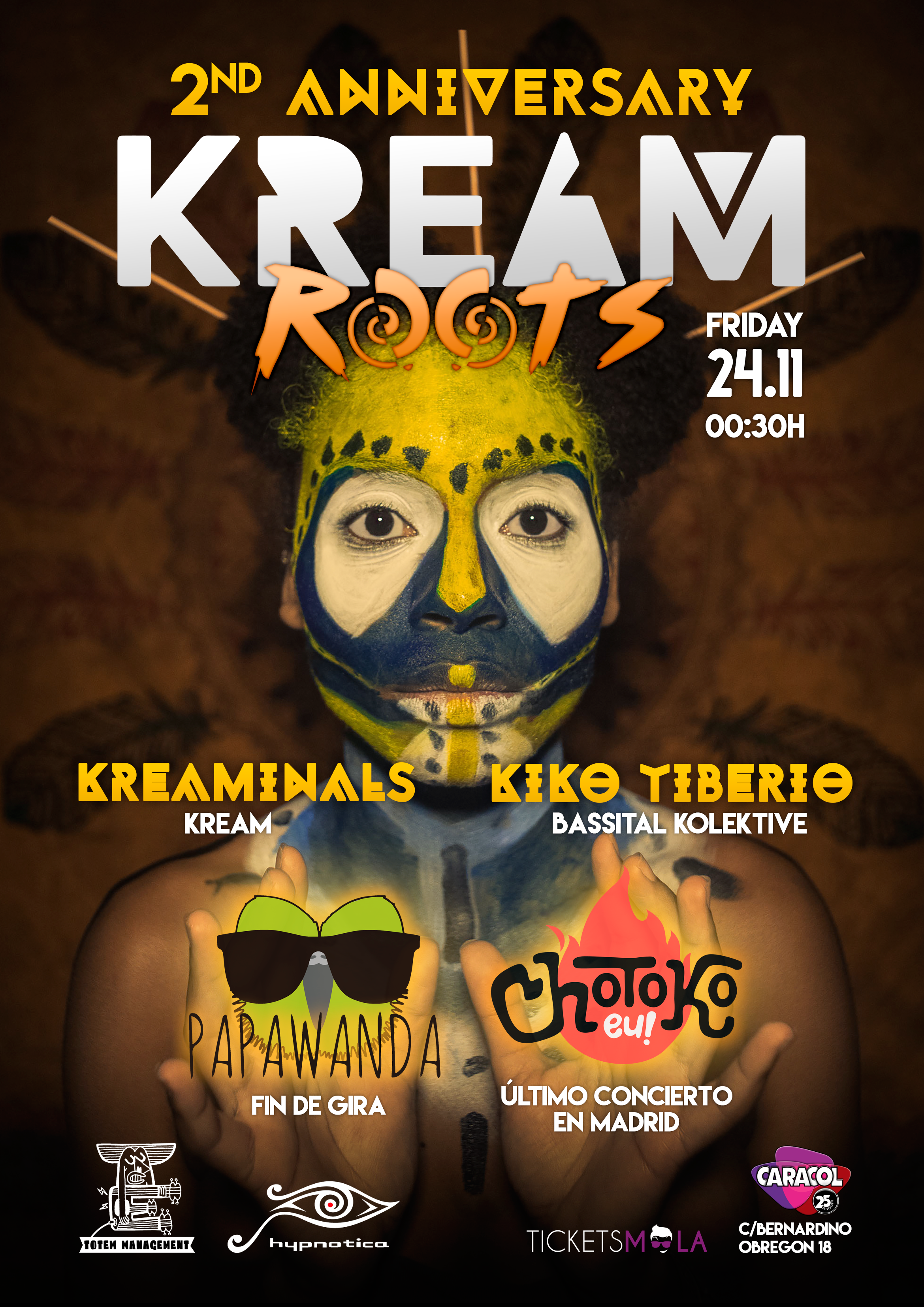 KREAM ROOTS 2º ANIVERSARIO